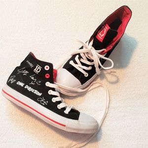 One Direction Autograph Hightop Converse Sneakers